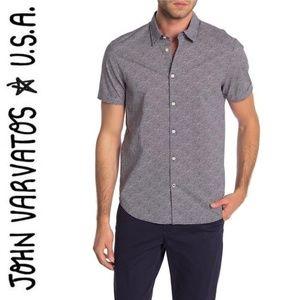 John Varvatos Star USA Short Sleeve Print Trim Fit
